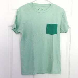 J. Crew Washed Pocket Tee in Green